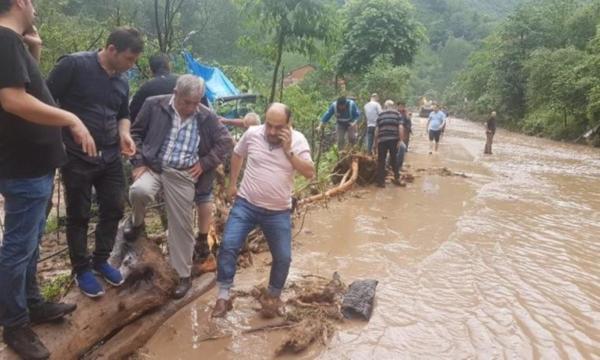 Trabzon Araklı'da sel felaketi