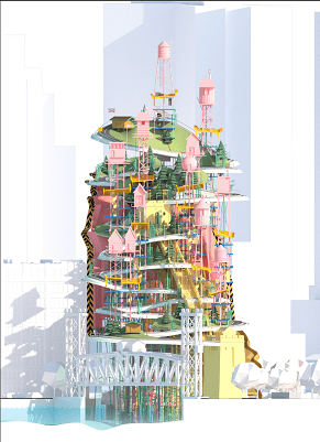 """Pastel-coloured Hillside"" - Felicity Barbur"