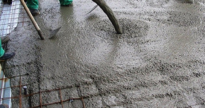Çimento dökümü