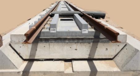 Balastsız Demiryolu kendiliğinden yerleşen beton görünümü