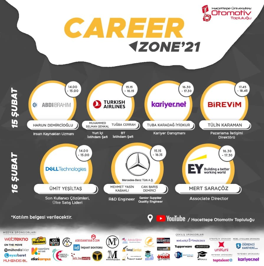 Career Zone'21 - Çevrimiçi Kariyer Fırsatı