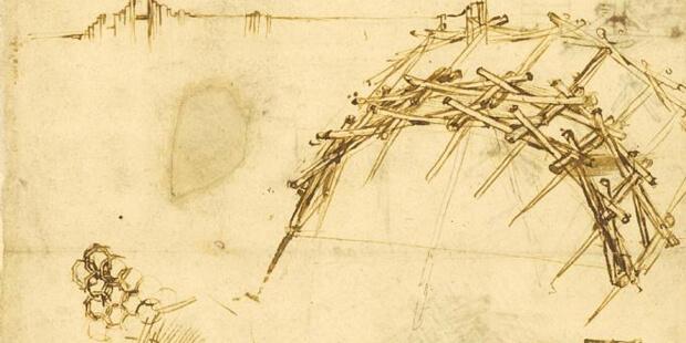 Leonardo da Vinci Köprüsüne ait bir eskiz örneği