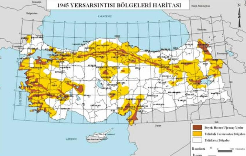 Türkiye Deprem Tehlike Haritasının Tarihsel Gelişimi