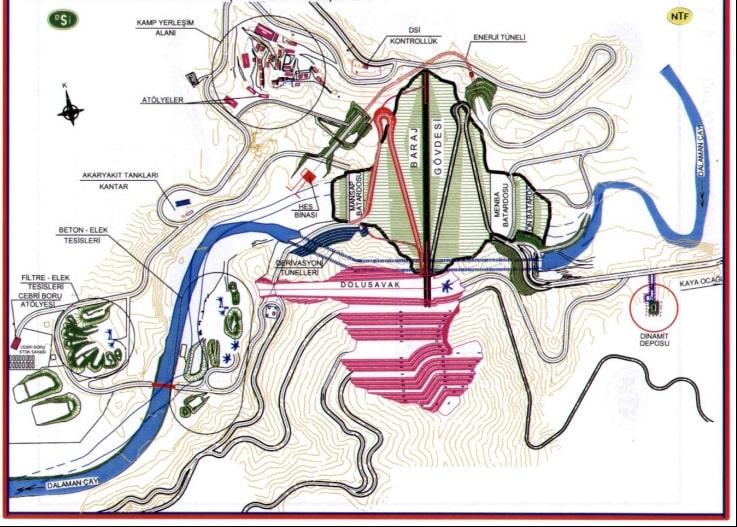 barajın kısımları